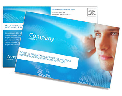 Telecommunication Postcard Template