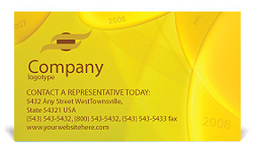 Year 2008 Business Card Template