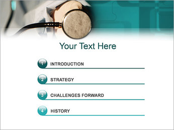 Doctor with Stethoscope PowerPoint Template - Slide 3