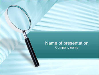 Magnifier PowerPoint Template - Slide 1