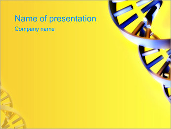 DNA Double Helix PowerPoint Template