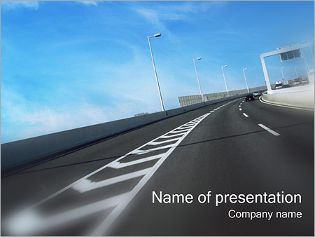 Highway Powerpoint Template Infographics Slides