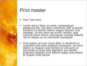 火災 PowerPointプレゼンテーションのテンプレート