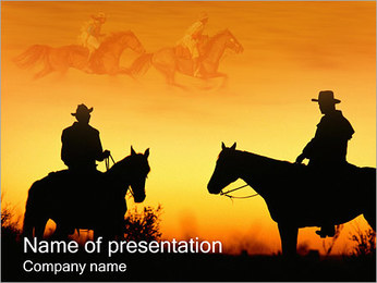 Cowboys PowerPoint Template