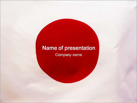 Japanese Flag Powerpoint Template Infographics Slides