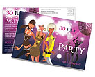 Party Postcard Template