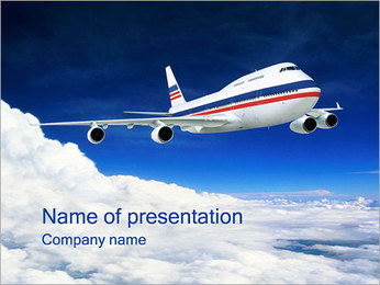 Airplane - PowerPoint Template - SmileTemplates com