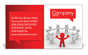 Team of People Business Card Template