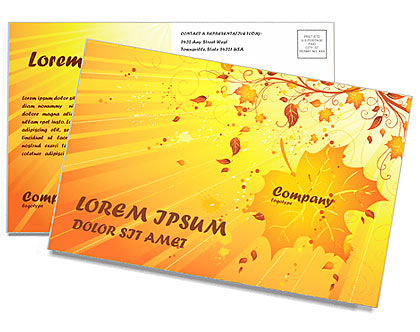 Autumn Postcard Template