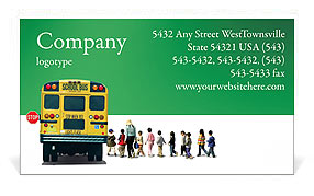 School Bus Business Card Template