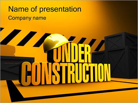 En Construction Modèles des présentations  PowerPoint