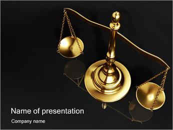 Golden mosaz Scale PowerPoint šablony