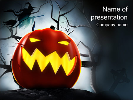 Halloween Powerpoint Template Infographics Slides