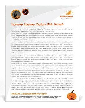 Halloween Pumpkin Letterhead Template