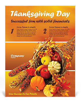 Thanksgiving Flyer Template from images.smiletemplates.com