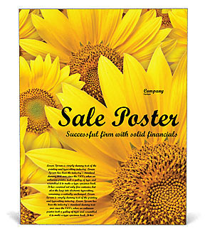 Sunflowers Poster Template