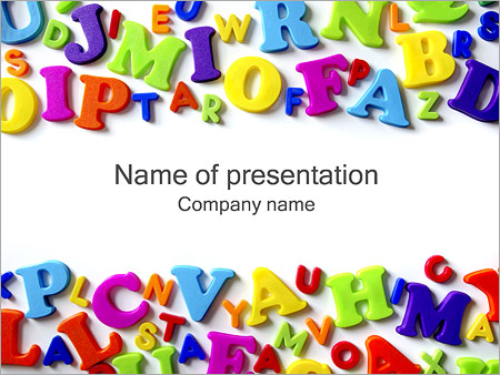 Colorful Letters PowerPoint Template