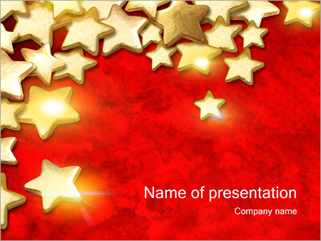 Gold Stars Powerpoint Template Infographics Slides