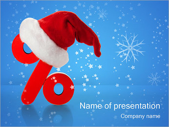 Christmas Discounts PowerPoint Template