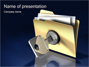 Data Protection Sjablonen PowerPoint presentatie