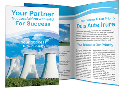 Power Plant Brochure Template