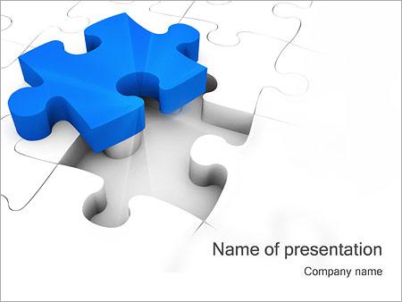 ジグソーパズル PowerPointプレゼンテーションのテンプレート