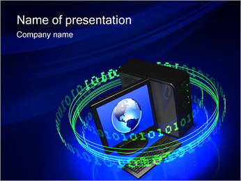 Digital Information PowerPoint Template