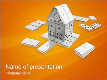 Domino House PowerPoint Template