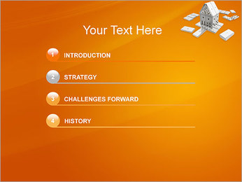 Domino House PowerPoint Template - Slide 3