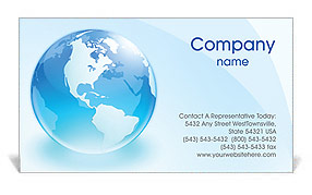 Glass Globe Business Card Template