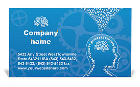 Knowledge & Thinking Business Card Template