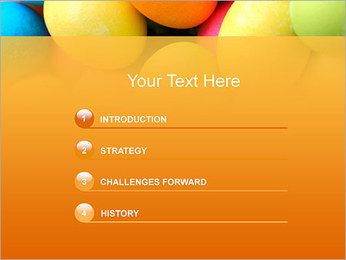 Colorful Eggs PowerPoint Template - Slide 3