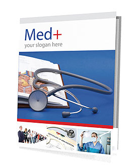 Stethoscope & Medicine Book Presentation Folder