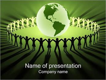 Gente alrededor del mundo Plantillas de Presentaciones PowerPoint