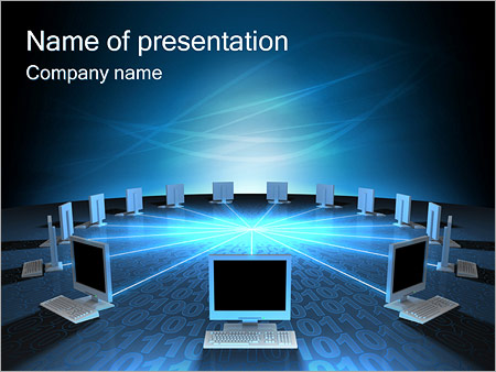 Computer Network Powerpoint Template Backgrounds Google Slides