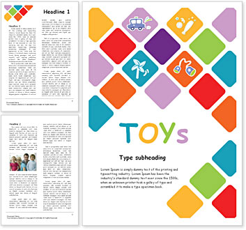 Toys Word Template
