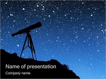 Telescope Stars Powerpoint Template Infographics Slides