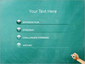 Writing on Chalkboard PowerPoint Template - Slide 3