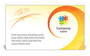 Creative Spiral Business Card Template
