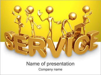 Gold Service PowerPoint Template