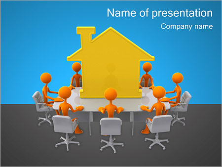 People Around the House PowerPoint Template