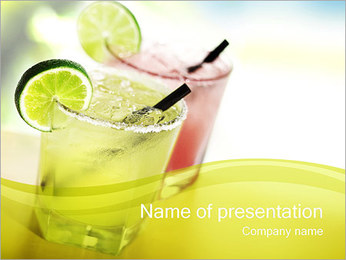 Margaritas with Lime PowerPoint Template
