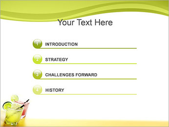 Margaritas with Lime PowerPoint Template - Slide 3