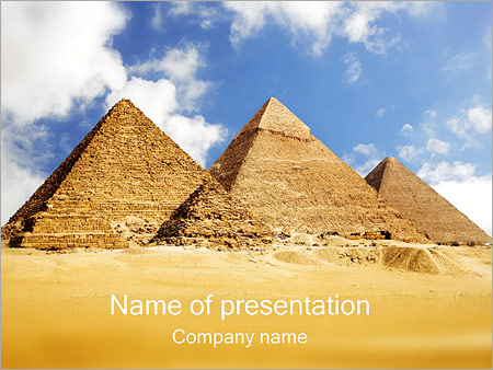 Pyramids Giza PowerPoint Template & Infographics Slides