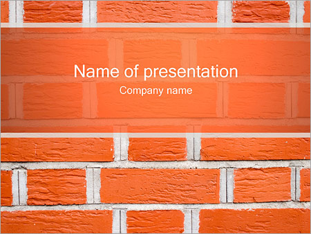 Brick Template | Brick Wall Powerpoint Template Infographics Slides