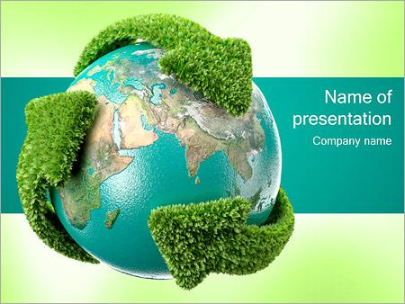 Recycling Aarde Sjablonen PowerPoint presentatie