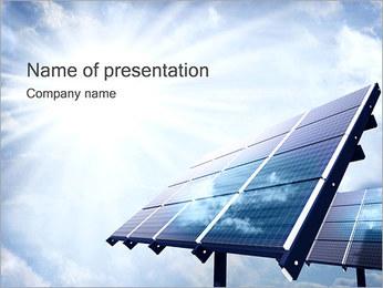 Panneaux solaires Modèles des présentations  PowerPoint