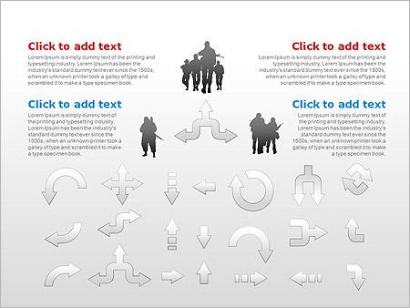 アーミーセット PowerPointのための図式 - スライド 15