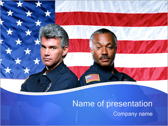 American Policemen PowerPoint Template