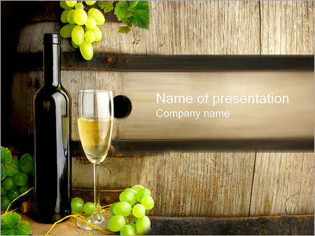 With Wine PowerPoint Template